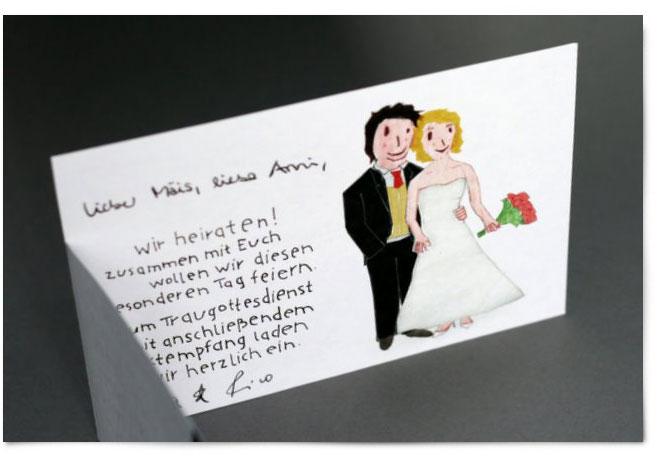 Hochzeitseinladung Designen: Pfarrer + Ärztin U003d Brautpaar
